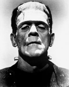 """Frankenstein's monster (Boris Karloff)"" by Universal Studios - Dr. Macro. Licensed under Public Domain via Commons"