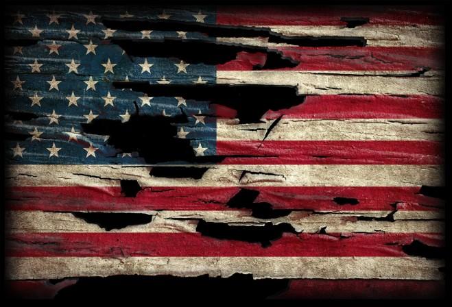 Unraveling Flag - horiz
