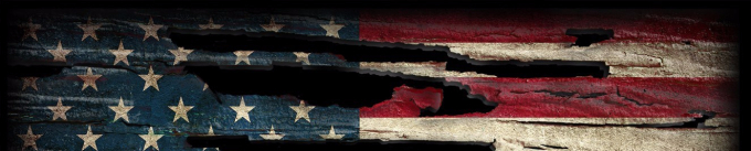 Tattered flag header